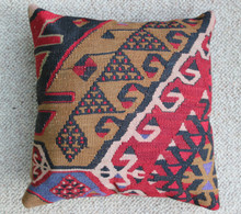 Kilim Cushion - Handmade from Antique Turkish Kilim No.6