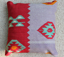 Kilim Cushion - Handmade from Antique Turkish Kilim No.7