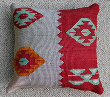 Kilim Cushion - Handmade from Antique Turkish Kilim No.8