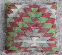 Kilim Cushion - Handmade from Antique Turkish Kilim No.9