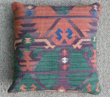 Kilim Cushion - Handmade from Antique Turkish Kilim No.12