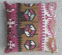 Kilim Cushion - Handmade from Antique Turkish Kilim No.14