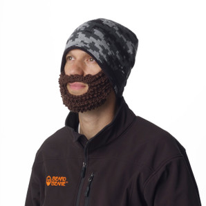 Digital Camo Beard Beanie