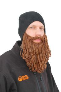 The Original Beard Beanie™ Eco2 Black With Long Beard