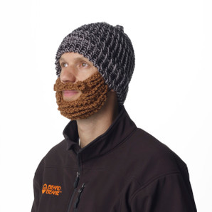 Black and Gray Beard Beanie