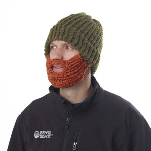 The Original Beard Beanie™ Green LumberJack 100% Hand Made