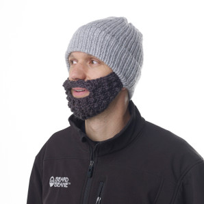 Grey Stocking Beard Beanie