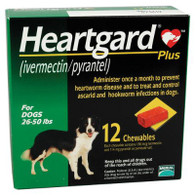 Heartgard Plus Chewables Green - 12 Pack