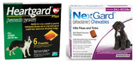 NexGard and Heartgard Combo for Dogs 24.1 - 60 lbs - 6 Pack