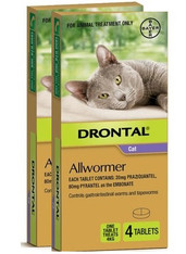 Drontal Allwormer for Cats up to 8lbs - 8 Pack