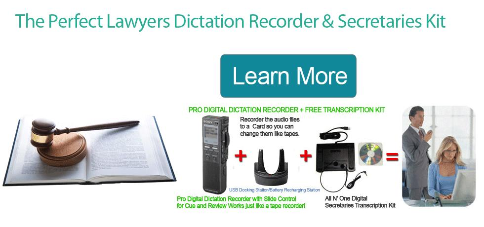 Lawyers Dictation Recorder Transcriber package Worlds Only Exclusive
