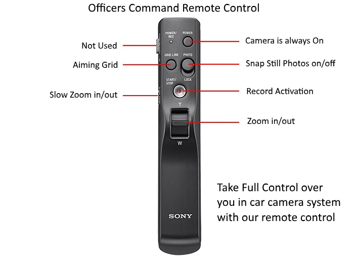 Police Dash Cam System officers remote control