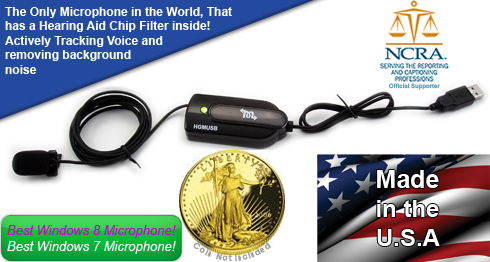 Professionals USB Court Reporter Microphone informational