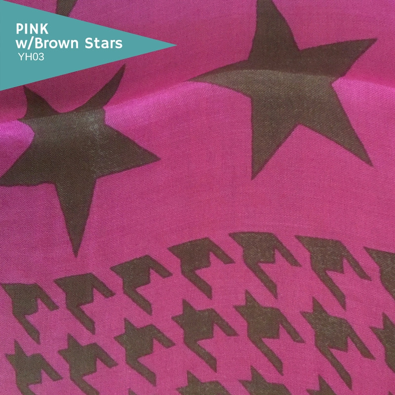 Pink with Brown Stars