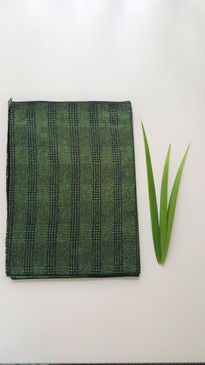 100% Bamboo Viscose Fleece Scarf {UNISEX} Green Check
