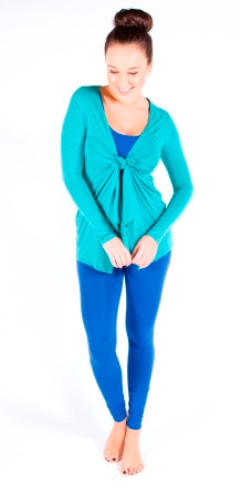 Bamboo Cardigan. (Knoted at front) Colour Pictured: Teal