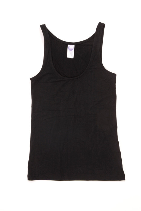 Tank Singlet. Colour Pictured: Black