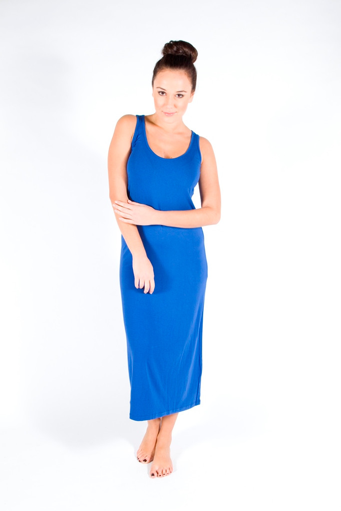 Monaco Blue Bamboo Maxi Dress