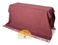 Alpaca Solid Color (same size as Southwestern throw) - Blanket by AndeanSun - Heather Red - 16893538