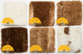 Alpaca Fur (Adult) Square Pillow Cover 11 ½ in x 11 ½ in