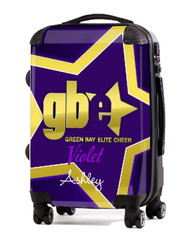 """Green Bay Elite Cheer VIOLET 20"""" Carry-on Luggage"""