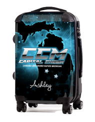 """Capital Cheer Michigan 20"""" Carry-on Luggage"""