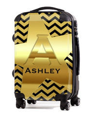 "Gold on Black 20"" Carry-on Luggage"