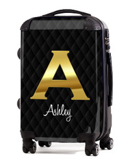 "Black Box Stitch Gold Initial 20"" Carry-on Luggage"