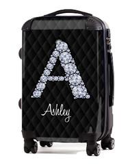 """Black Box Stitch Diamond 24"""" Check In Luggage"""
