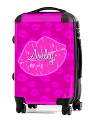 "Kiss Pink 24"" Check In Luggage"