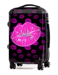 "Kiss Pink Black 24"" Check In Luggage"