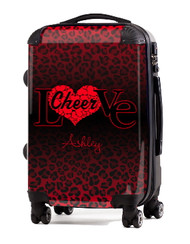 "Love Cheer Red Cheetah 20"" Carry-on Luggage"