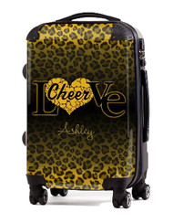 "Love Cheer Gold Cheetah 20"" Carry-on Luggage"