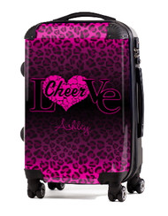 "Love Cheer Pink Cheetah 20"" Carry-on Luggage"