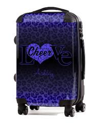 "Love Cheer Purple Cheetah 20"" Carry-on Luggage"