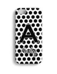 Black Polka Dots - Phone Snap on Case