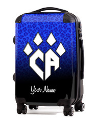 Custom Luggage for Cheer Athletics- Blue Cheetah Custom Design