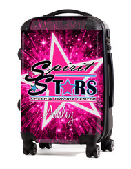 """Spirit Stars Cheer and Tumbling 20"""" Carry-On Luggage"""