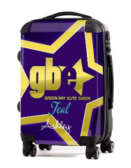 """Green Bay Elite Cheer TEAL 20"""" Carry-on Luggage"""