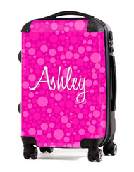 "Pink Bubbles   - 24"" Check In Luggage"
