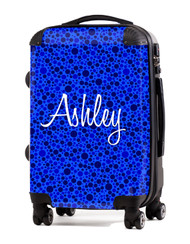 "Blue Bubbles  - 24"" Check In Luggage"
