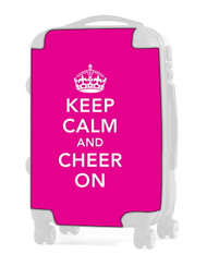 "Keep Calm and Cheer On - PINK 20"" Carry-on Luggage Insert"