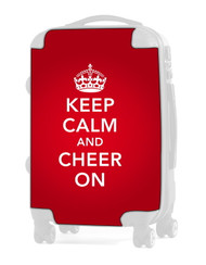 "Keep Calm and Cheer On - RED 20"" Carry-on Luggage Insert"