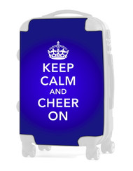 "Keep Calm and Cheer On - BLUE 20"" Carry-on Luggage Insert"
