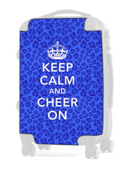"Keep Calm and Cheer On - CHEETAH BLUE 20"" Carry-on Luggage Insert"