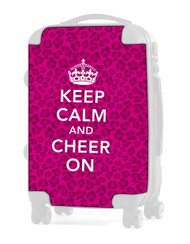 "Keep Calm and Cheer On - CHEETAH PINK 20"" Carry-on Luggage Insert"