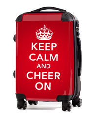 "Keep Calm and Cheer On-RED 24"" Check In Luggage"