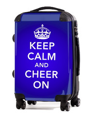 """Keep Calm and Cheer On-BLUE 24"""" Check In Luggage"""