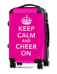 "Keep Calm and Cheer On-PINK 24"" Check In Luggage"