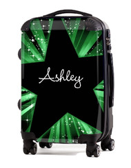 "Green Blast 24"" Check In Luggage"